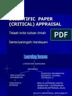 Critical Appraisal Indonesia 3