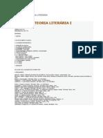 Ementas de Teoria Literária