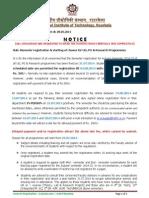 SemesterRegistrationAutumn2014 15 Notice