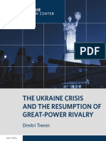 The Ukraine Crisis and the Resumption of Great-Power Rivalry