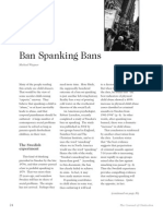 2007 Issue 2 - Ban Spanking Bans - Counsel of Chalcedon