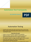 Automation Test Frameworks