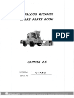 Carmix 2.5 Part Manual