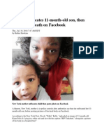Mother Suffocates 11-Month-old Son, Then Mourns His Death on Facebook