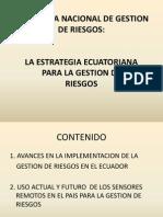 Secretaría Nacional de Gestion de Riesgos