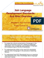 1 ELD Standards and Brief Overview 3