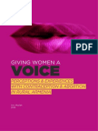 Giving Women A Voice (English)