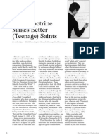 2007 Issue 6 - Good Doctrine Makes Better (Teenage) Saints - Counsel of Chalcedon