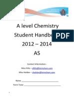 Chemistry Handbook 2012 -2013