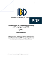 Funds. Brewing-Package Beer Syllabus IBD