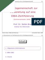 DBA Certification Course (C1)