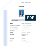 Hoja de Vida Maribel Ramírez Q. Ag.2014