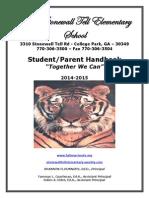 2014-2015 stonewall tell es student-parent handk