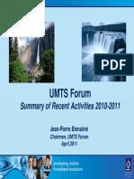 UMTS Forum Activity Report 2010-2011