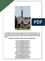 City of Dallas Council Contacts