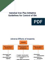 National Iron Plus Initiative Guidelines for Controlof IDA