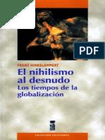 Hinkelammert Franz - El Nihilismo Al Desnudo