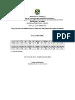 Gabarito Final - Exame de Selecao 2014