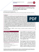 Formulation and Evaluation of Solid Self Micro Emulsifying Drug Delivery System Using Aerosil 200 as Solid Carrier