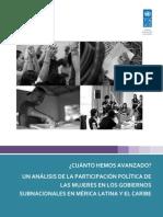 Estudio Participacion Politca de Mujeres en El Ambito Subnacional Esp (1)