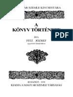 Fitz Jozsef a Konyv Tortenete