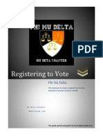 Phi Mu Delta Registering to Vote Guide