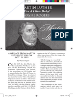 2009 Issue 5 - Martin Luther Was a Little Baby - Counsel of Chalcedon