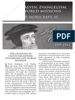 2010 Issue 2 - John Calvin, Evangelism, and World Missions - Counsel of Chalcedon