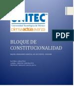 Bloue de Constitucionalidad