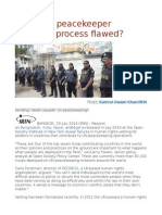 Is the UN Peacekeeper Selection Process Flawed