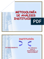 El Analisis Institucional