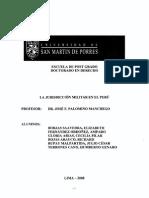 La Jurisdiccion Militar en El Peru Prof Palomino