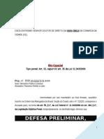 Defesa Preliminar Trafico Drogas Associacao Erro Tipo PN292