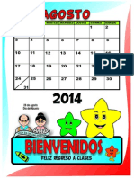 CALENDARIO AGO a Colores y Para Colorear