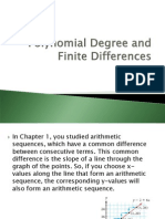 Polynomial Degree and Finite Differences