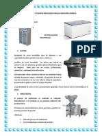 Máquinas y Equipos Empleados Para La Industria Cárnica Planta de Carne