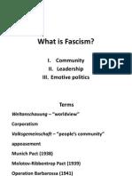 Fascism and World War II