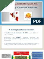 El Peru y La Cultura de Evaluacion