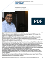 Early Progress on Devolution Crucial to Sri Lanka_ Indian Envoy - The Hindu