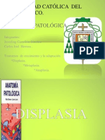 Trastornos del crecimiento y adaptación (Displasia, Metaplasia y Anaplasia)