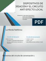 Dispositivos de Conversación y El Circuito Anti Efecto