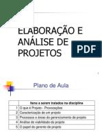 00 Texto Aula - Elaboracao e Analise de Projetos