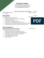 meranda smith resume