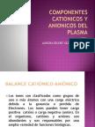Componentes Cationicos y Anionicos Del Plasma