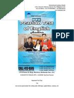Pearson Test English (Pte)
