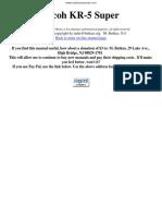 Ricoh kr-5 Super Manual