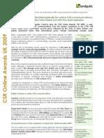 Lundquist CSR Online Awards UK 2009 Executive Summary