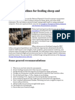 General Guidelines for Feeding Sheep and Goats