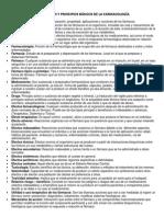 Conceptos y Principios Básicos de La Farmacología