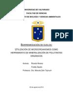 Biorremediación de Suelos, Utilización de Microorganismos Como Herramienta de Mineralización de Polutantes Orgánicos